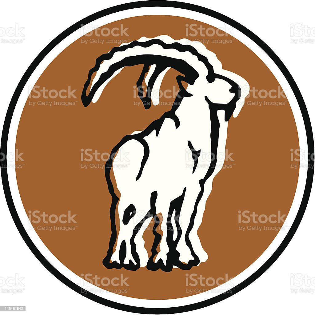 capricorn - 6/12 vector art illustration