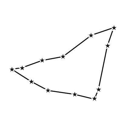 Capricorn Constellation on Transparent Background