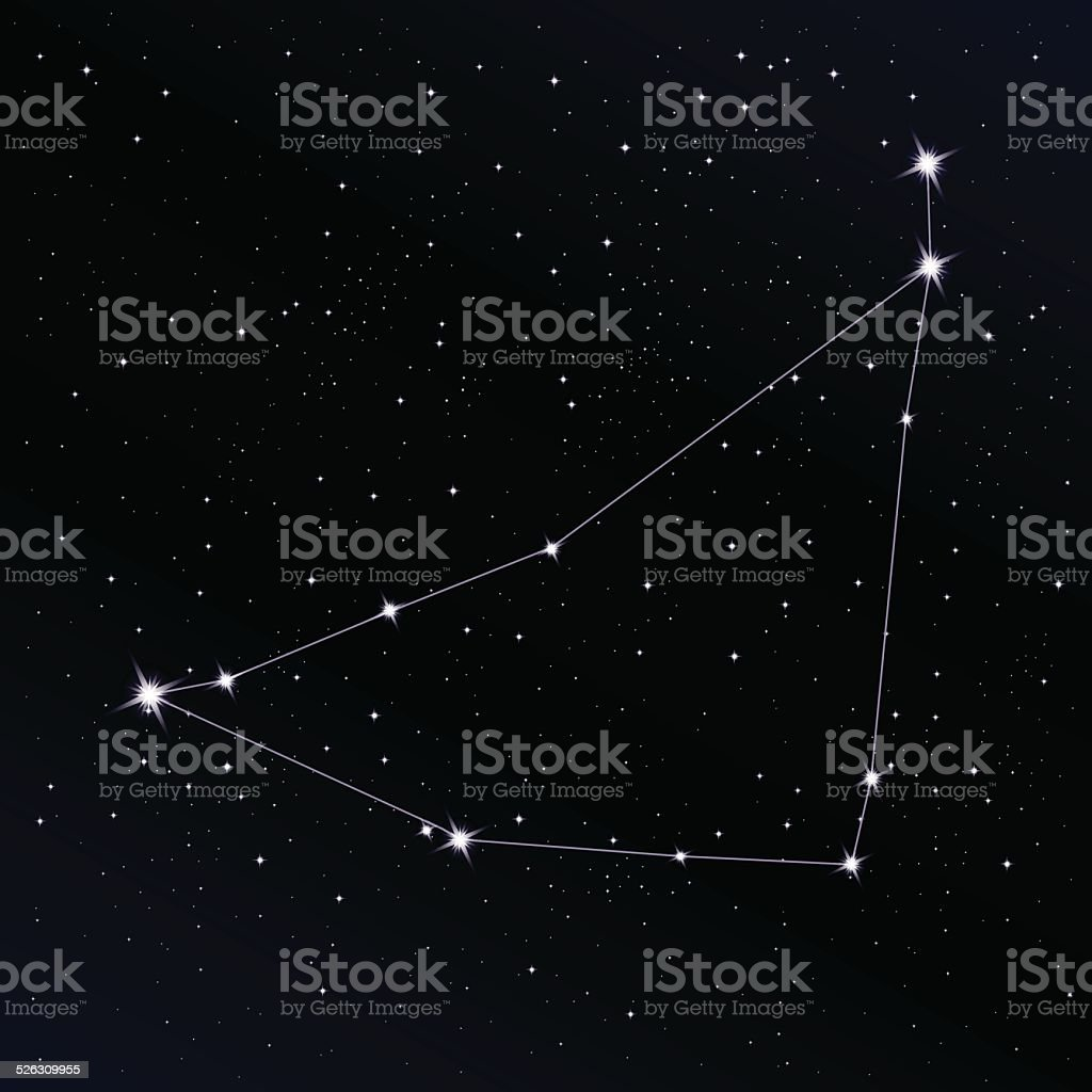 Capricorn constellation vector art illustration