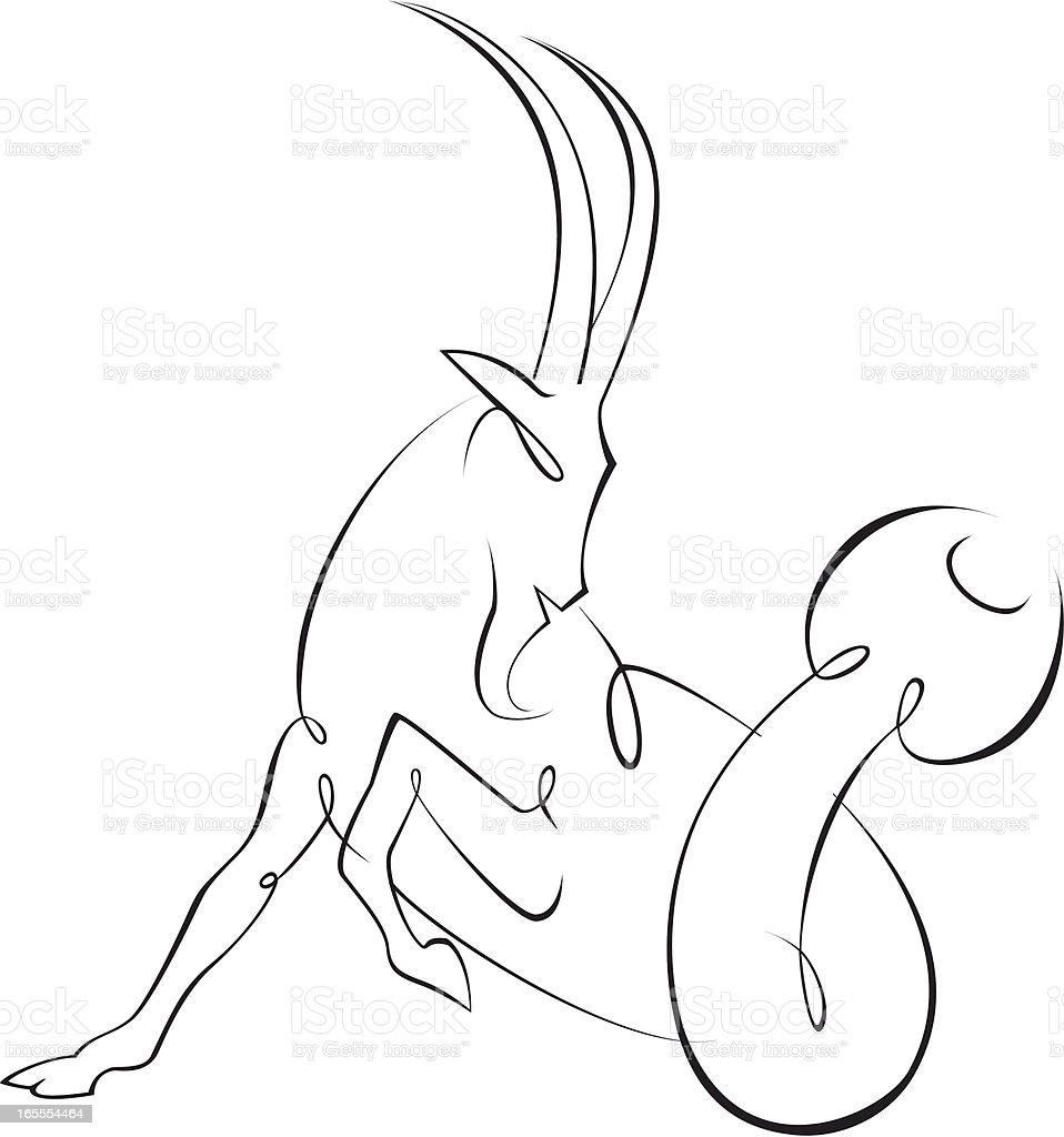 Capricorn vector art illustration