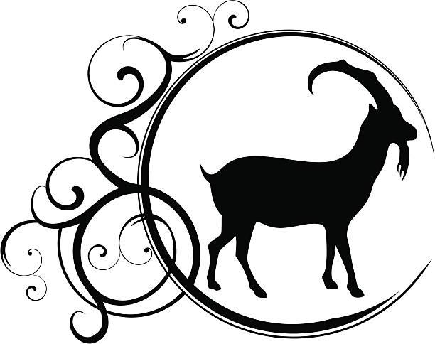 steinbock - bergziegen stock-grafiken, -clipart, -cartoons und -symbole