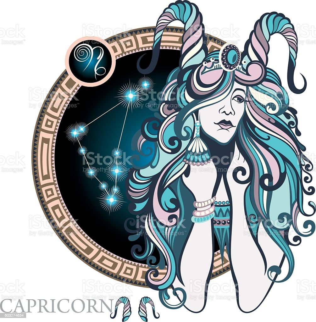 Capricorn - Royalty-free Adult stock vector