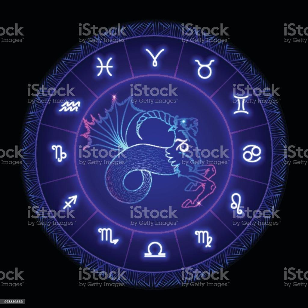 山羊座星座星座シンボル ベクトル イラスト 12星座のベクターアート