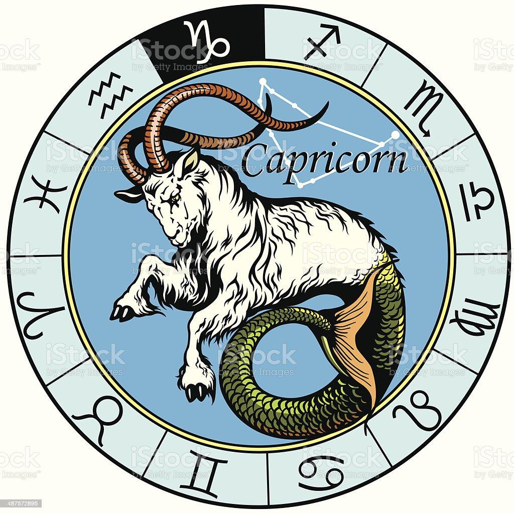 Koziorożec Znak Zodiaku Stockowe Grafiki Wektorowe I