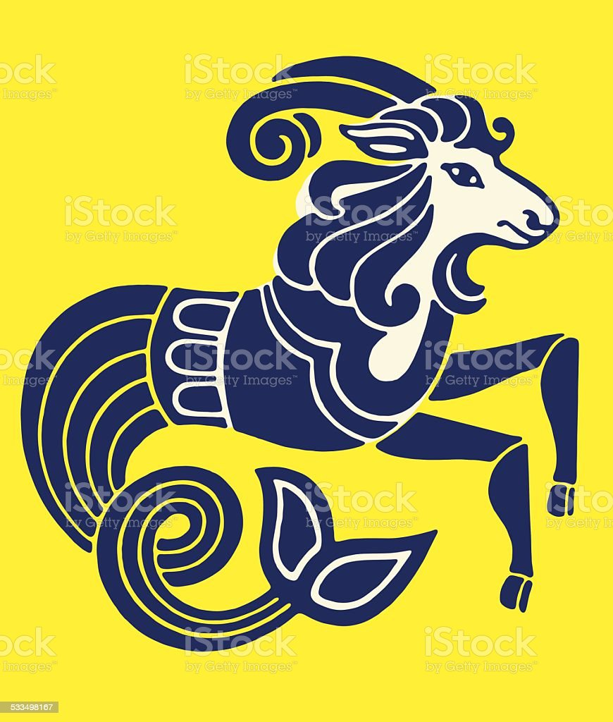 Capricorn Zodiac Symbol vector art illustration