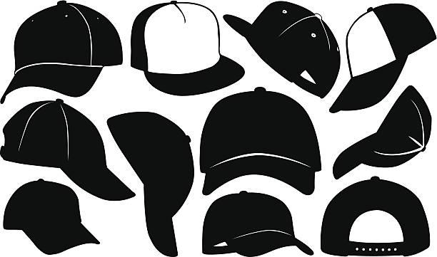 caps vector art illustration
