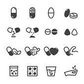 capsule and pill icons