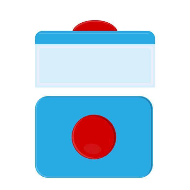 kapsel für spülmaschinen geeignet. waschen-tabletten - winkelküche stock-grafiken, -clipart, -cartoons und -symbole