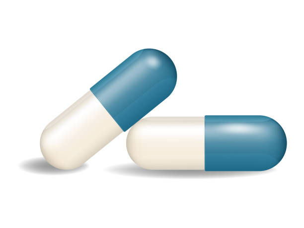 illustrazioni stock, clip art, cartoni animati e icone di tendenza di capsule pill vector - dose