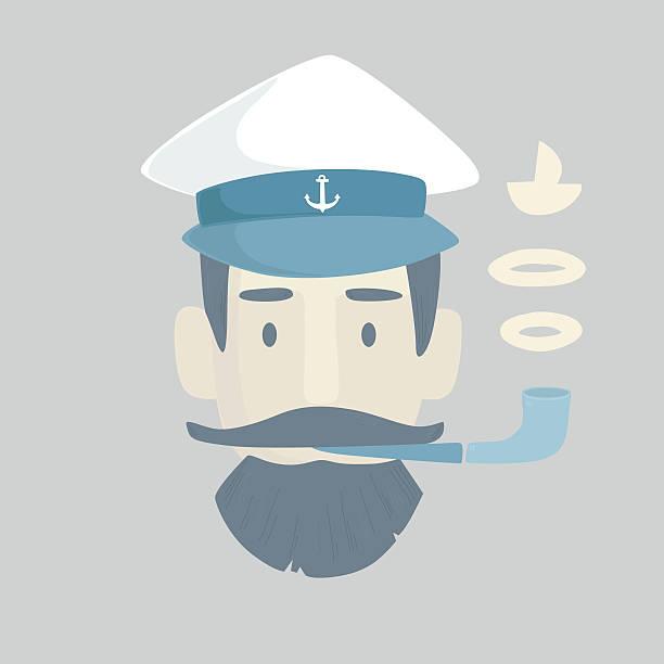 Captain in has vector art illustration
