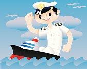 Captain of a small ship