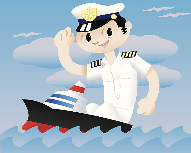 Royalty Free Cruise Ship Captain Uniform Cartoons Clip Art, Vector