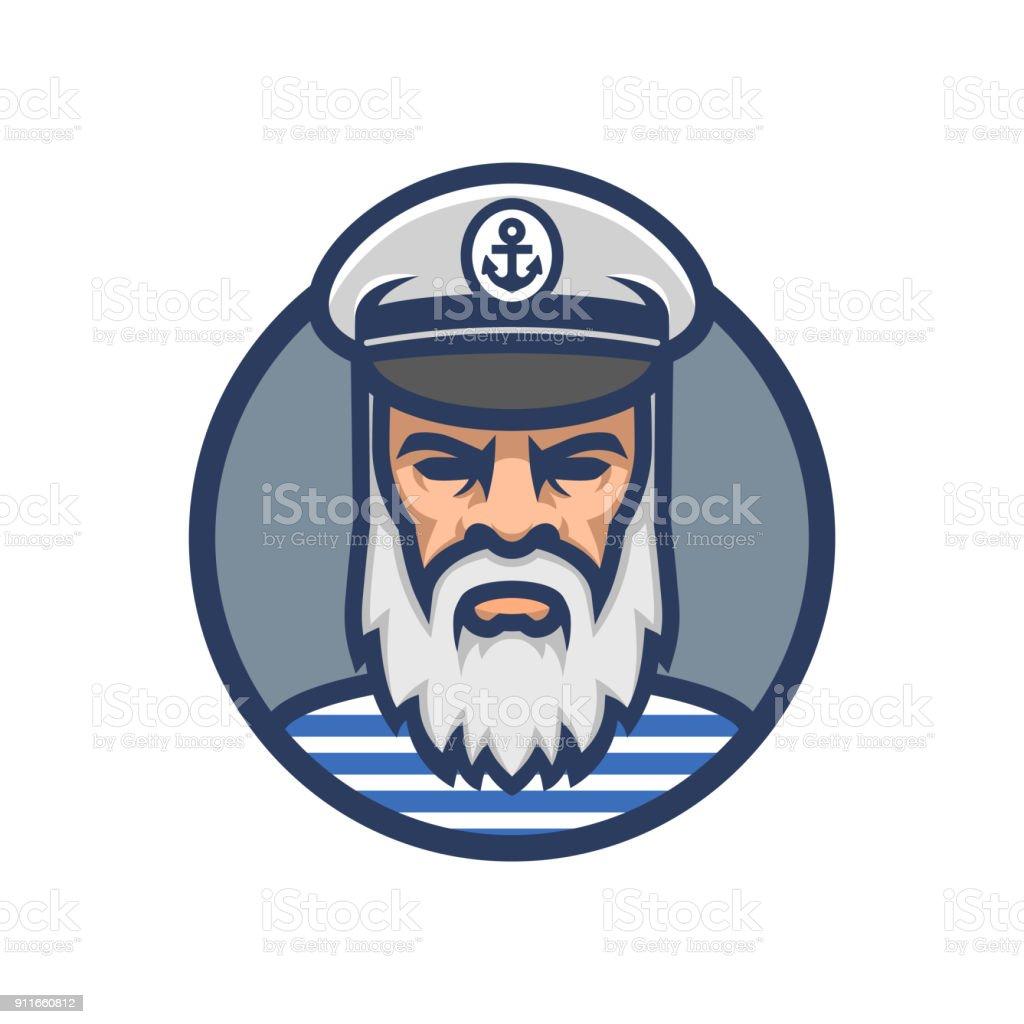 Captain of the ship. Sailor head