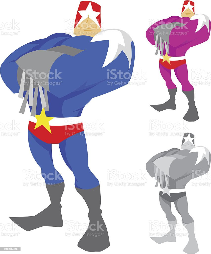 Captain Star Character vector art illustration