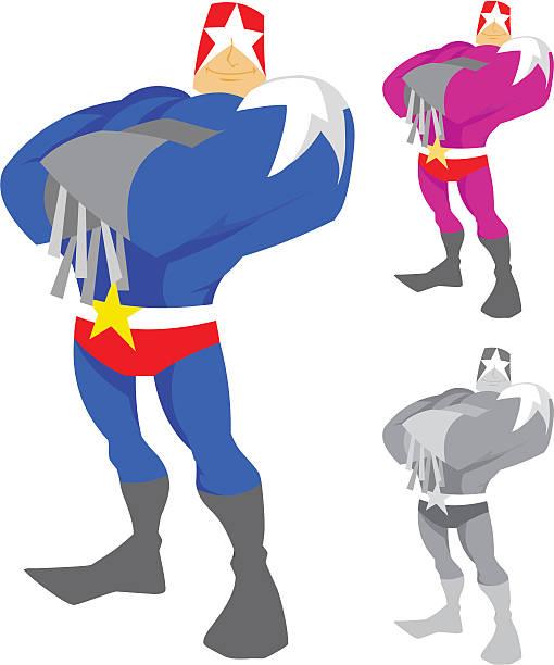 captain star character - byteandpixel stock illustrations
