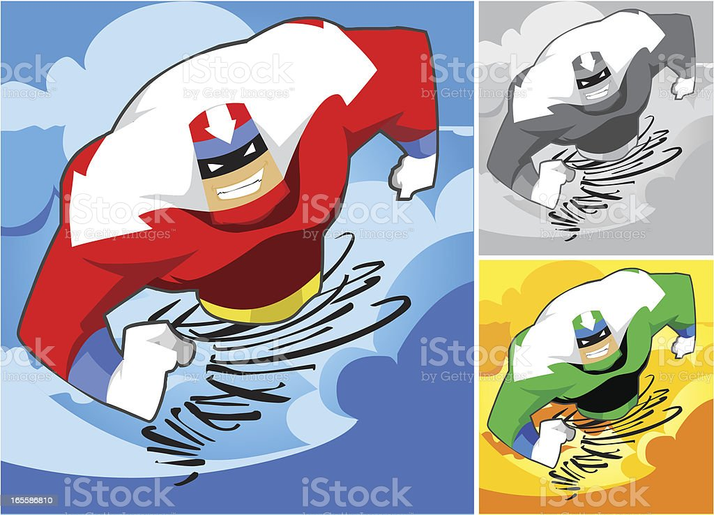 Captain Tornado Character vector art illustration