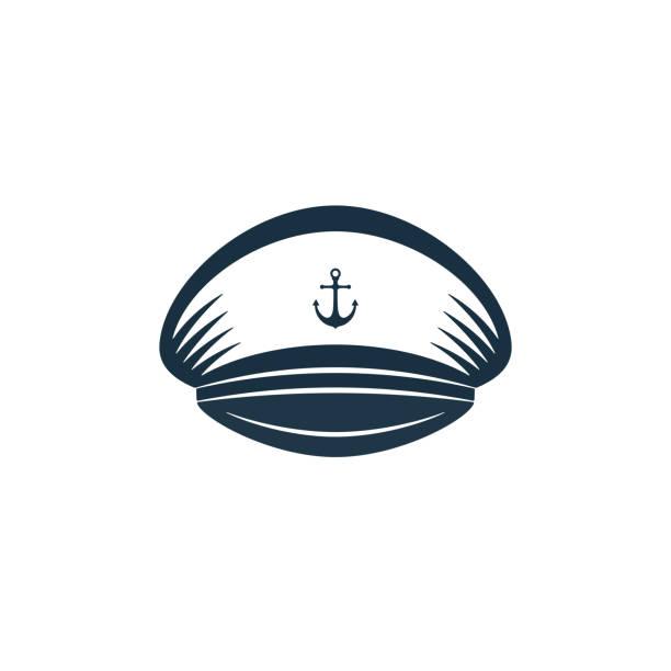 kapitäne-hut-symbol, vektor-design - matrosenmütze stock-grafiken, -clipart, -cartoons und -symbole
