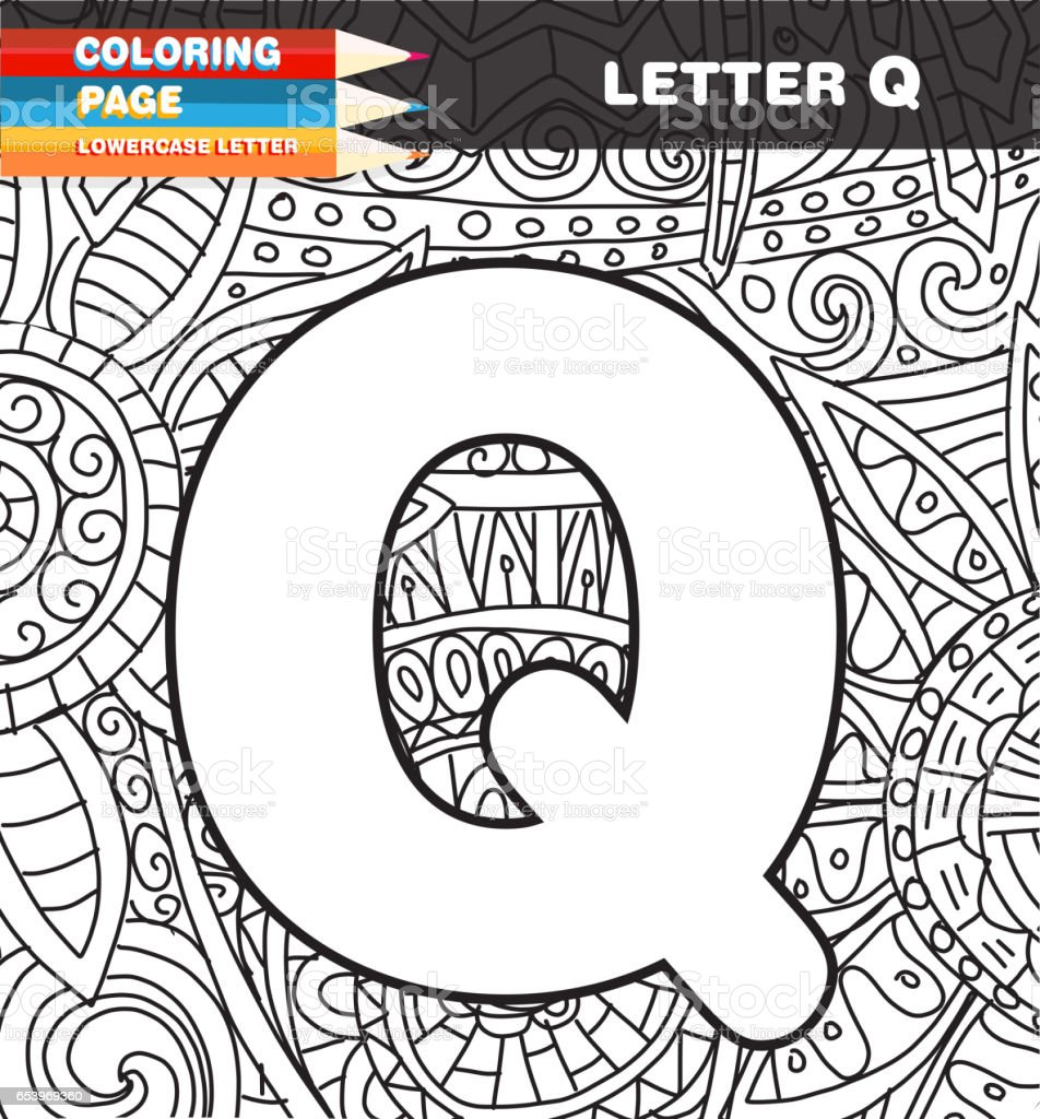 Captial Letter Coloring Page Doodle Stock Vector Art & More Images ...