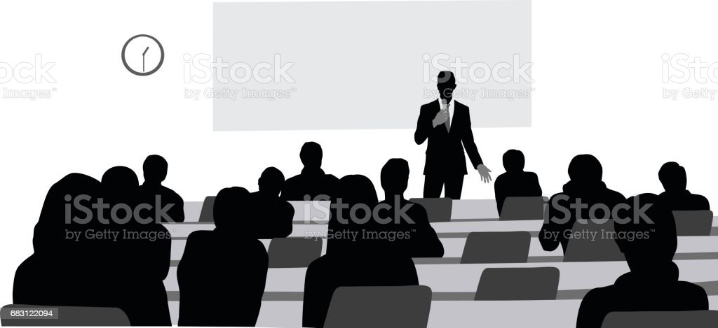 Captivating Lectures vector art illustration