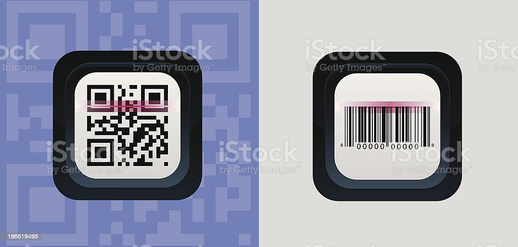 Capture QR Code and barcode royalty-free capture qr code and barcode stock vector art & more images of bar code