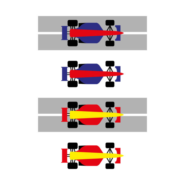 car 4 a set of racing car icons indy racing league indycar series stock illustrations