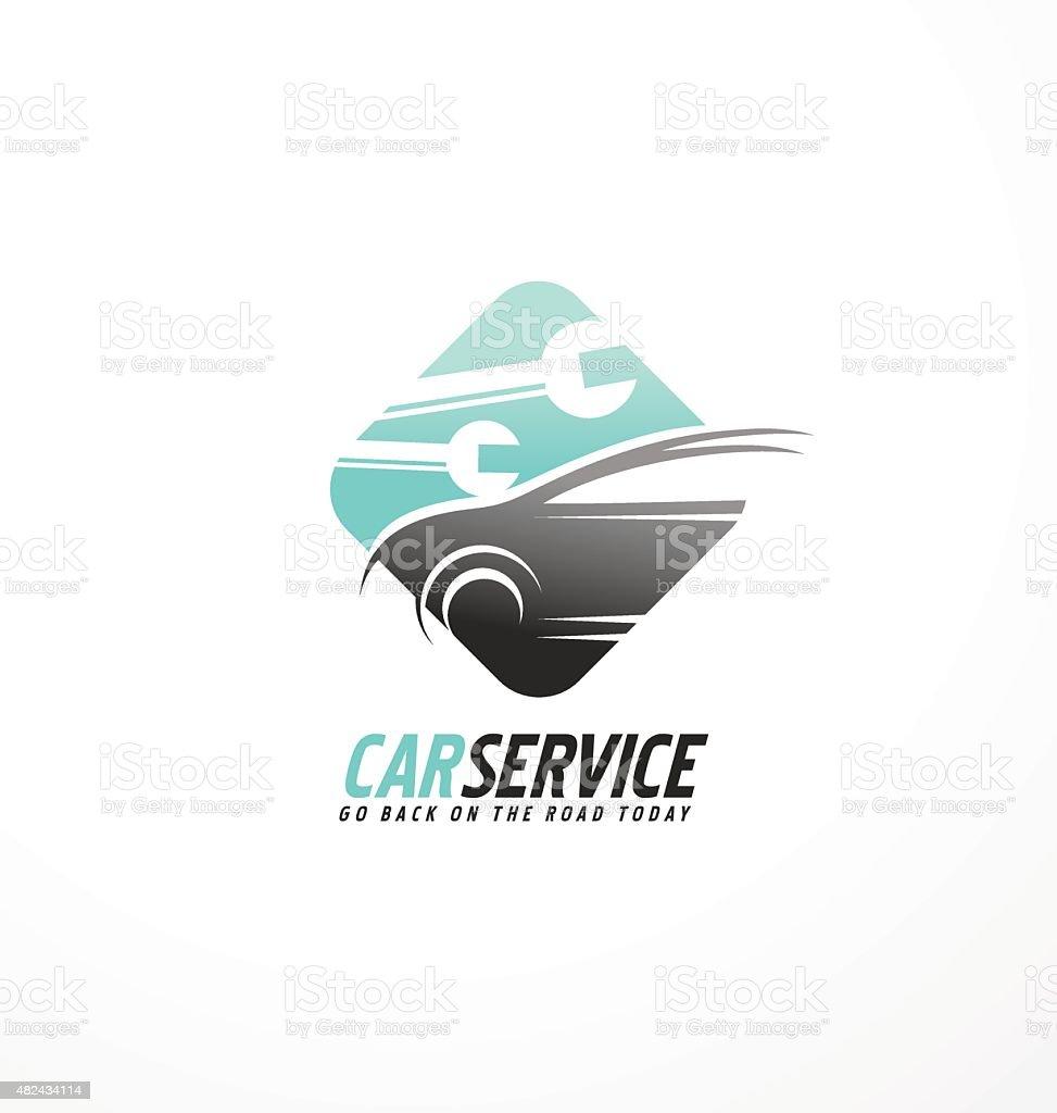 Car abstract vector symbol design concept