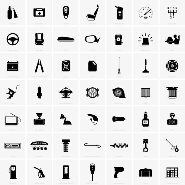 kfz-zubehör und ersatzteile - feuerzeuggas stock-grafiken, -clipart, -cartoons und -symbole
