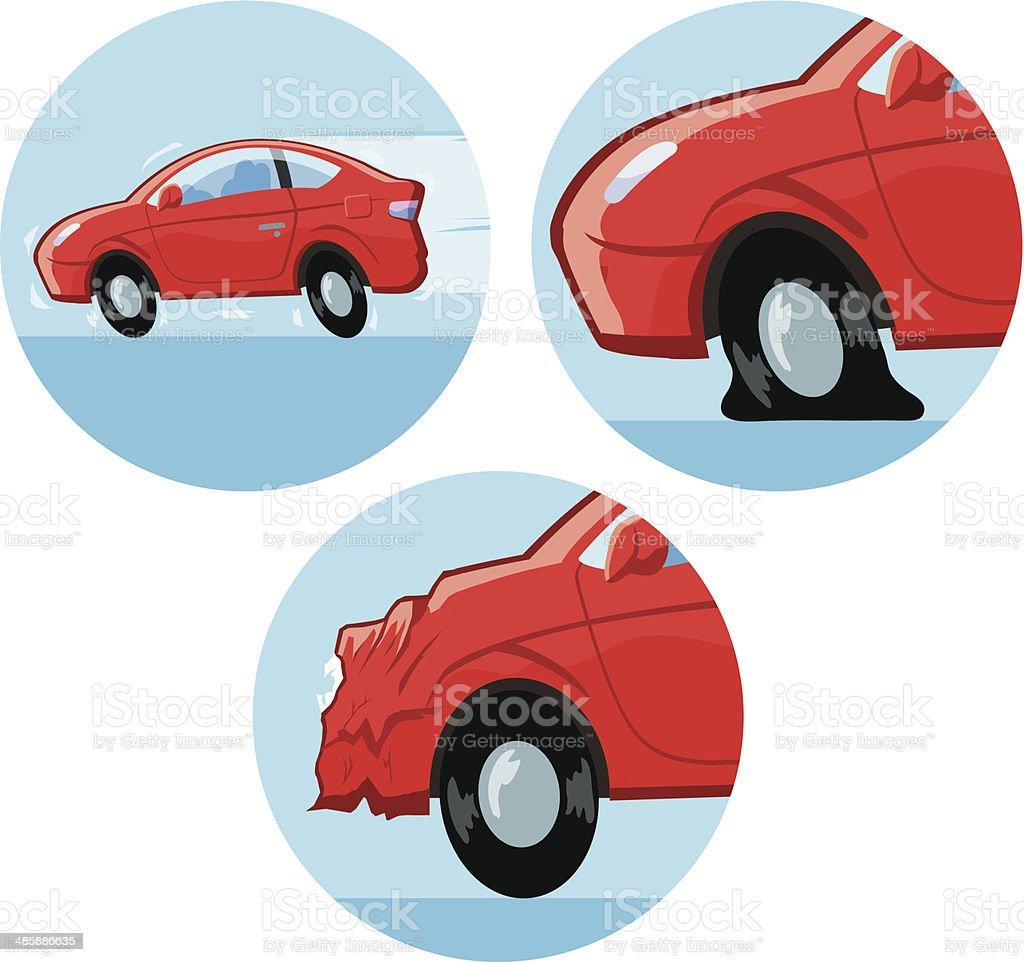 Car Accident Icon vector art illustration