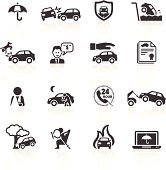 Auto Accident & Insurance Icons. Layered & grouped for ease of use. Download includes EPS 8, EPS 10 and high resolution JPEG & PNG files.