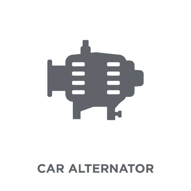 car alternator icon from Car parts collection. vector art illustration