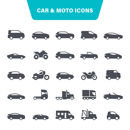 Car and Motorcycle Icons