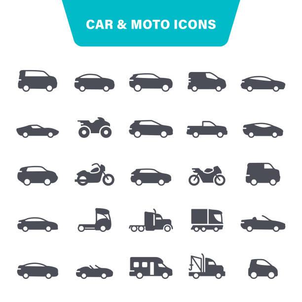 車とオートバイのアイコン - 車点のイラスト素材/クリップアート素材/マンガ素材/アイコン素材