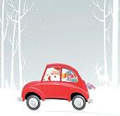 Car and Santa Claus
