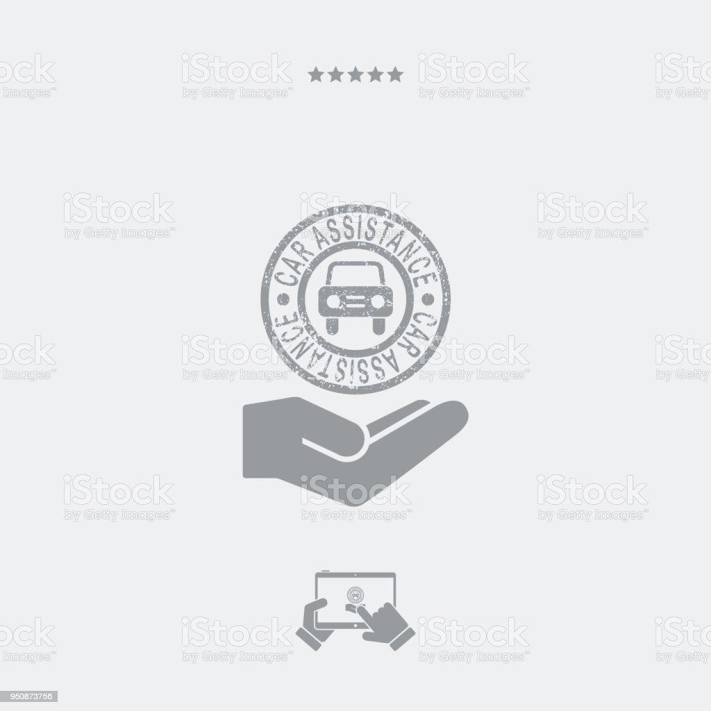 Car assistance services vector art illustration