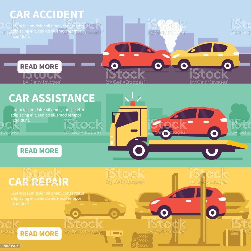 car assistance vector art illustration