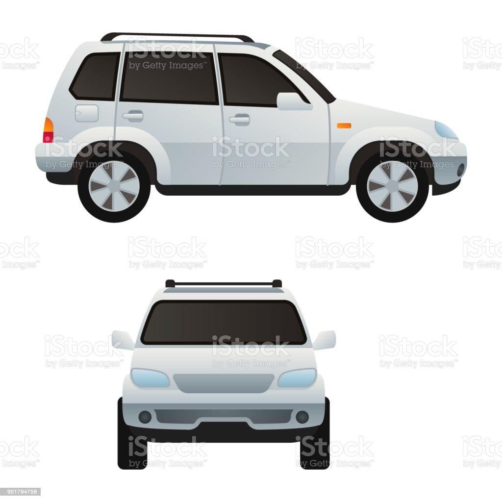 Ilustración de Diseño De Tipo De Coche Auto Vehículo Transporte De ...