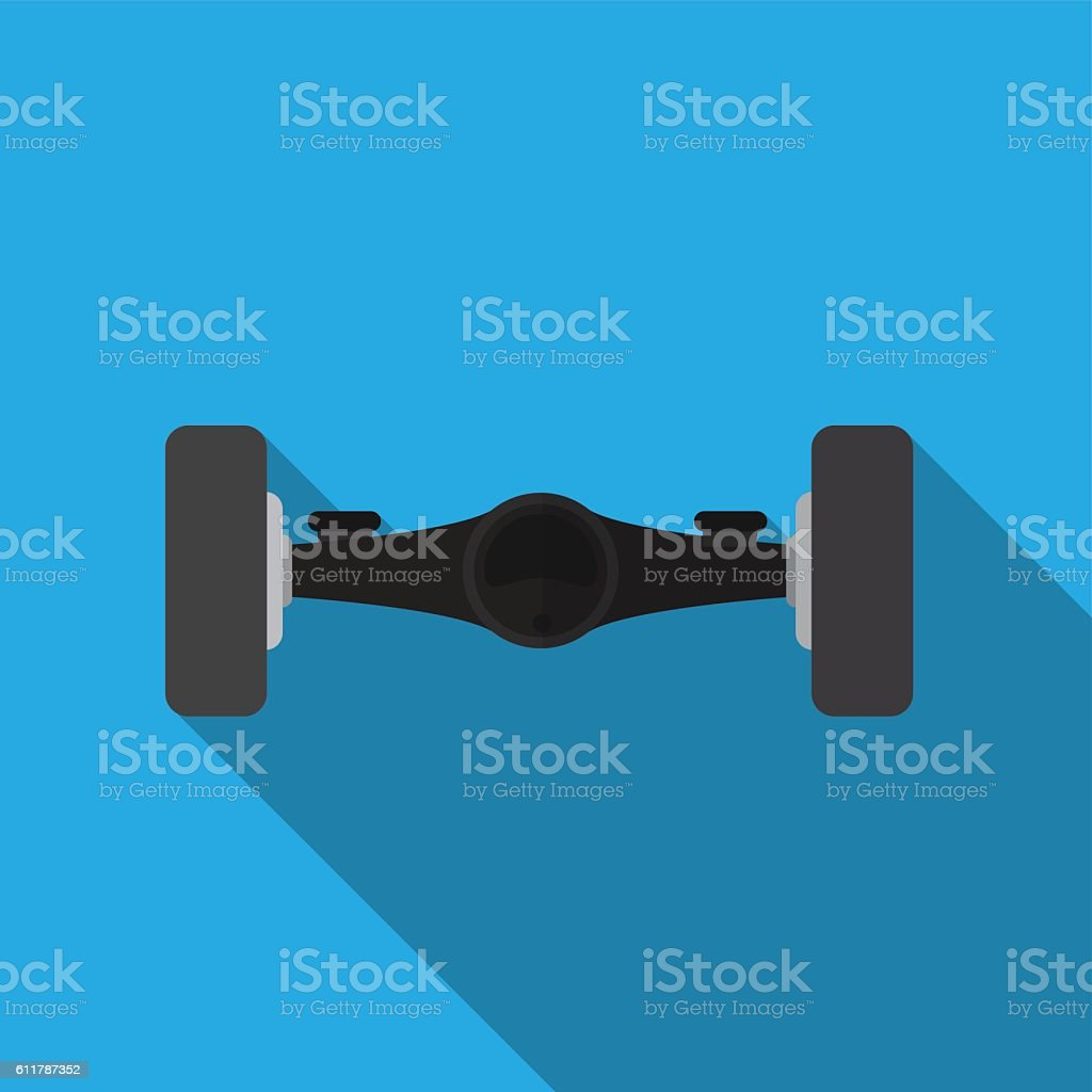 Car axis flat icon illustration vector art illustration