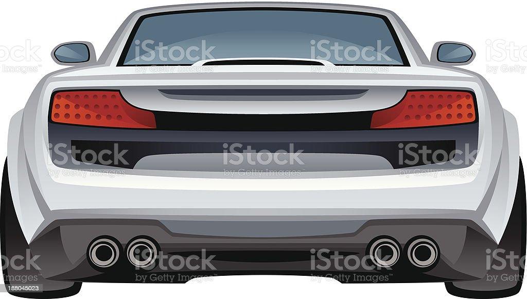 Car back vector art illustration