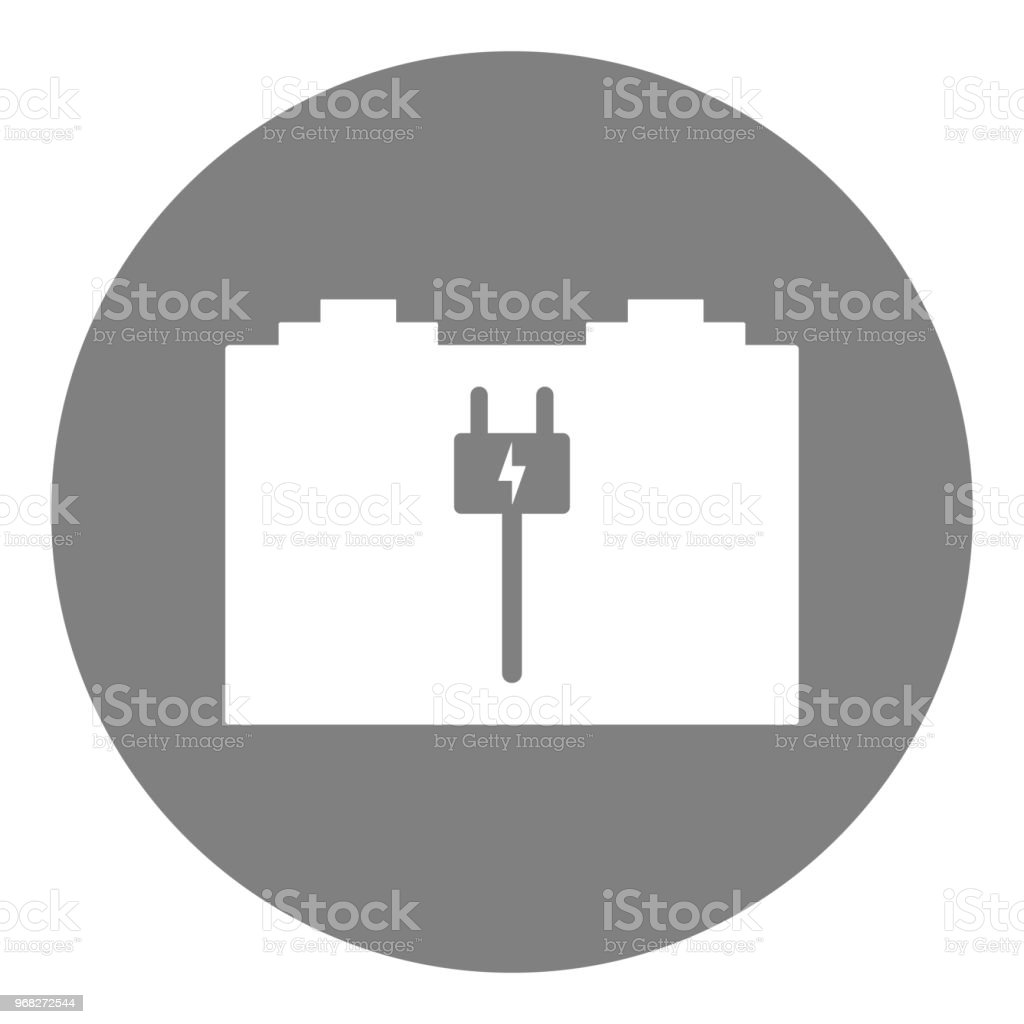 Car Battery Charger Symbol Vector Icon Stock Vector Art & More ...