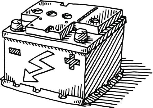 Car Battery Drawing