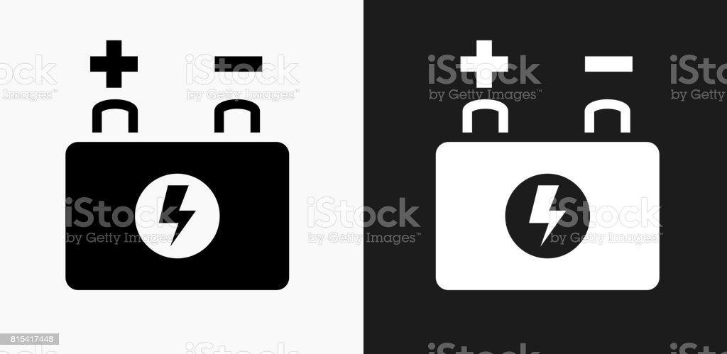 Auto-Batterie-Symbol in schwarz und weiß-Vektor-Hintergründe – Vektorgrafik