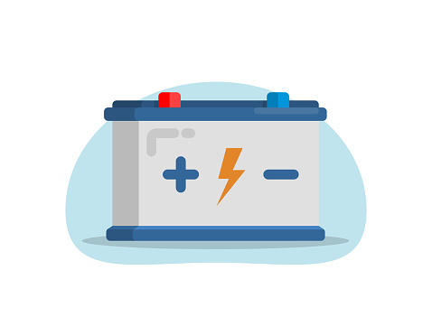 Car battery icon.