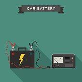 Car battery illustration.