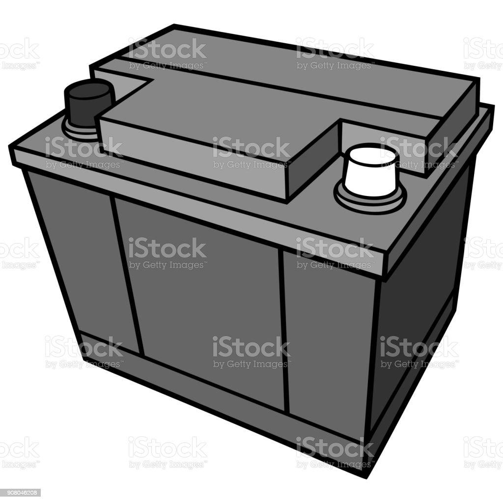 Autobatterie Illustrationen – Vektorgrafik