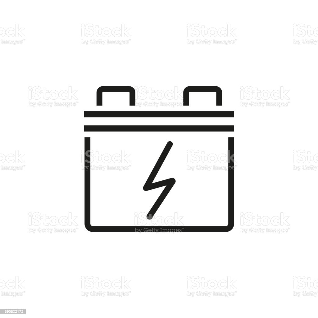 Car Battery Line Icon Stock Vector Art  for Car Battery Symbol  56bof
