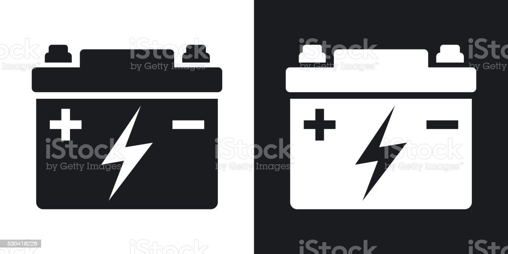 Autobatterie Vektorsymbol Stock Vektor Art und mehr Bilder von ...
