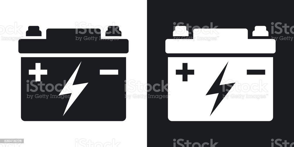 Autobatterie Vektor-Symbol. – Vektorgrafik