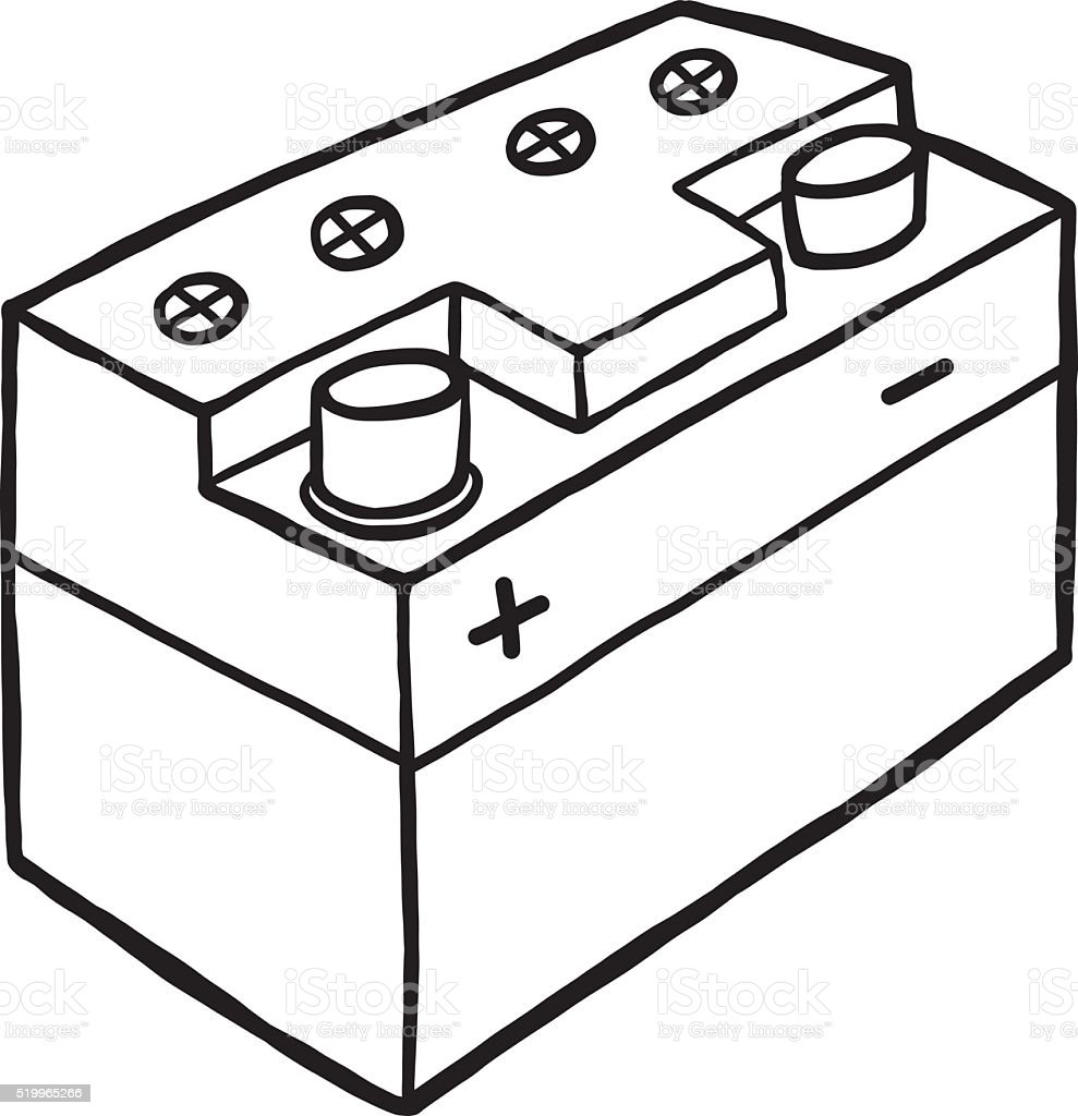 Car Battery Stock Vector Art More Images Of 519965266 Istock Diagram A Royalty Free Amp