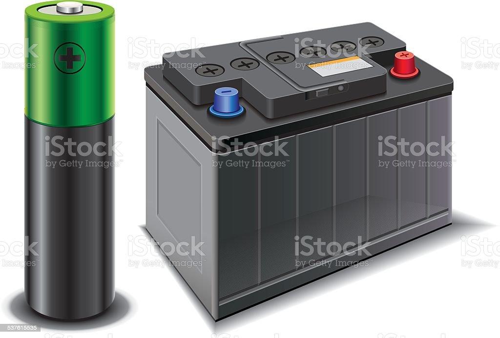 car battery – Vektorgrafik