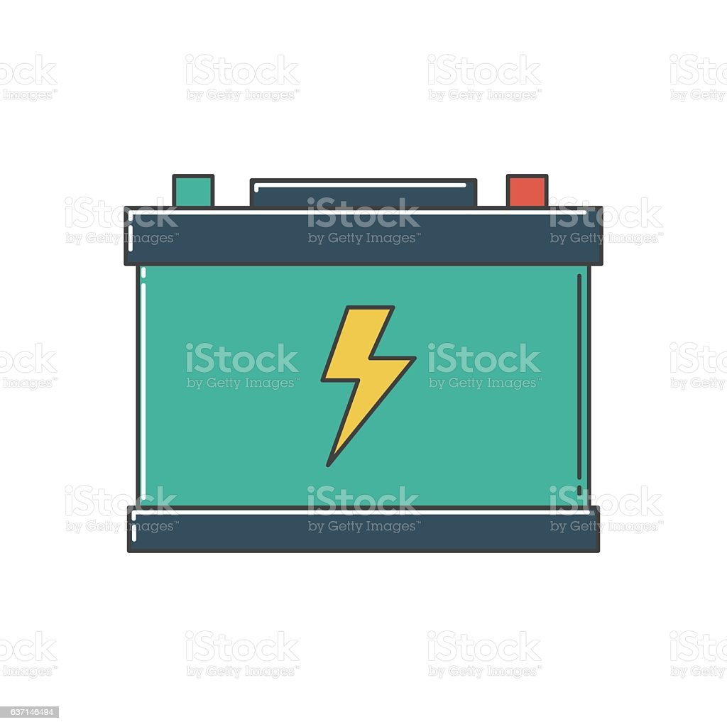 Car Battery Stock Vector Art More Images Of Acid 637146494 Istock Diagram A Royalty Free Amp